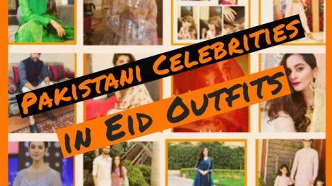 Pakistani celebrities Eid Outfits Showbizfashionpk