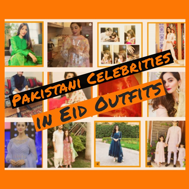 Pakistani celebrities Eid Outfits Showbizfashionpk