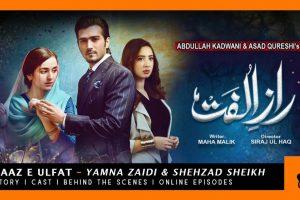 Stunning Yumna Zaidi and Shehzad Sheikh in New Pakistani Drama Raaz e Ulfat