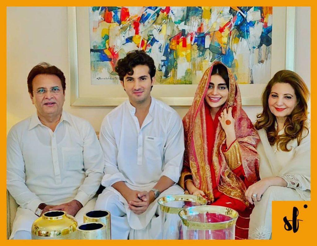 Sadaf Kanwal and Shehroze Sabzwari nikah picture
