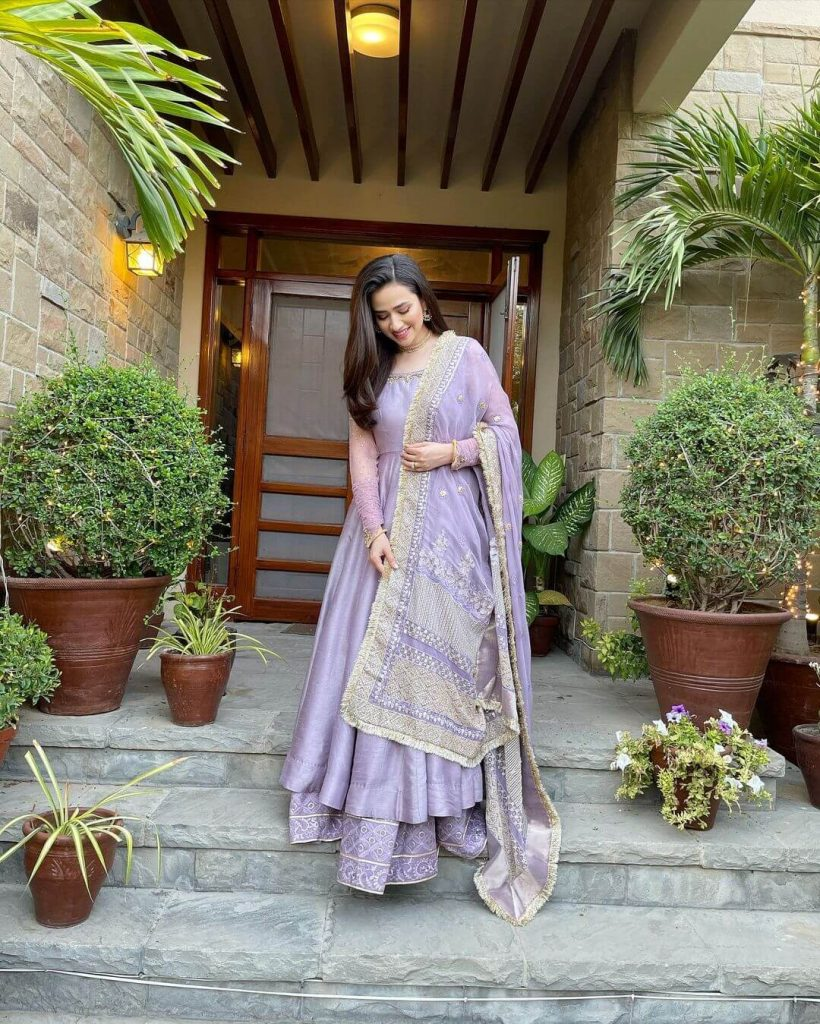 Sana Javed Eid Outfit