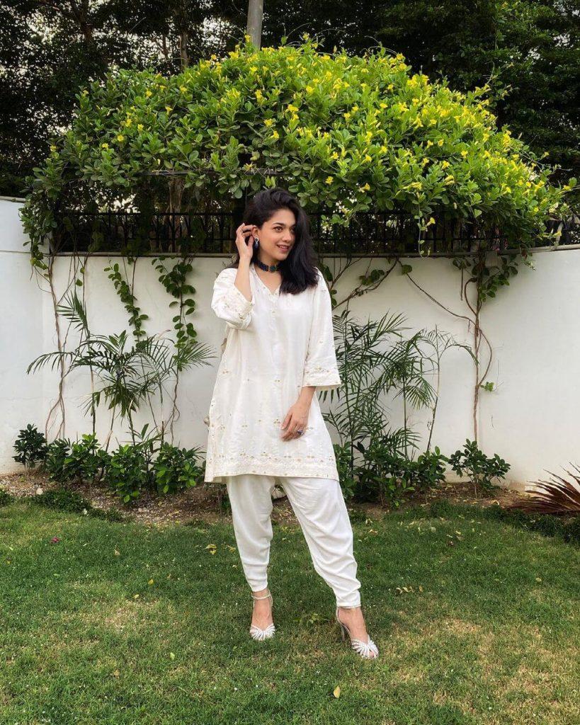 Sanam Jung White Dress