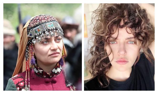 Turkish actress Didem Balçin Ertugrul Seclan Hatun