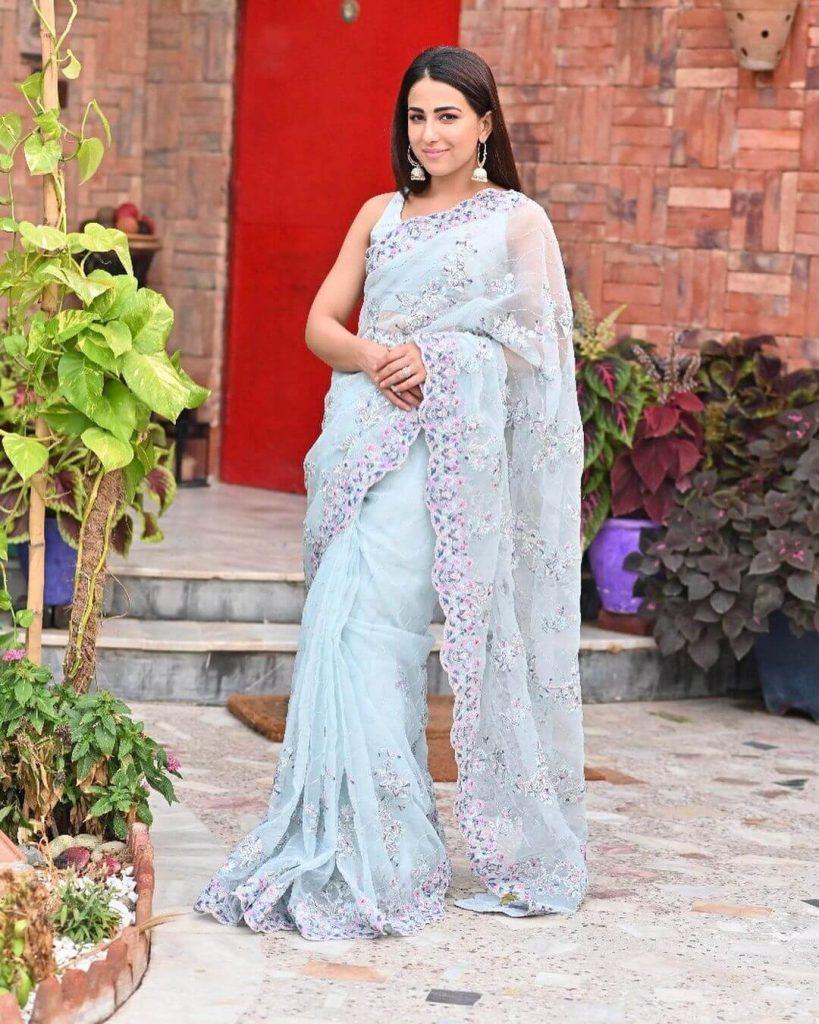 Ushna Shah Saree Collection
