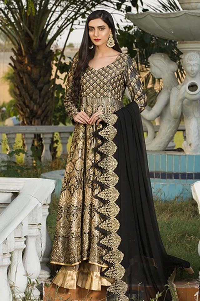 Amazing Mahum Asad Clothing Formal Collection 2020 10 noche min