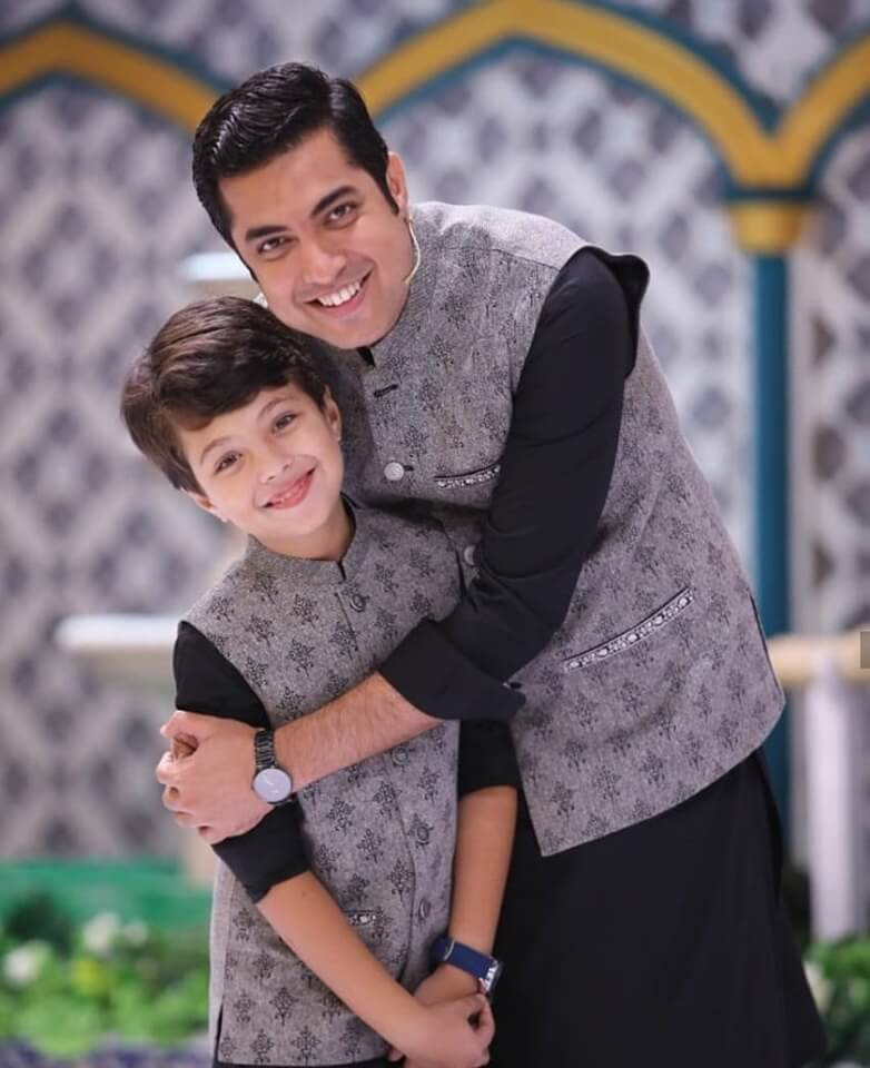 Pehlaaj Hassan with his father