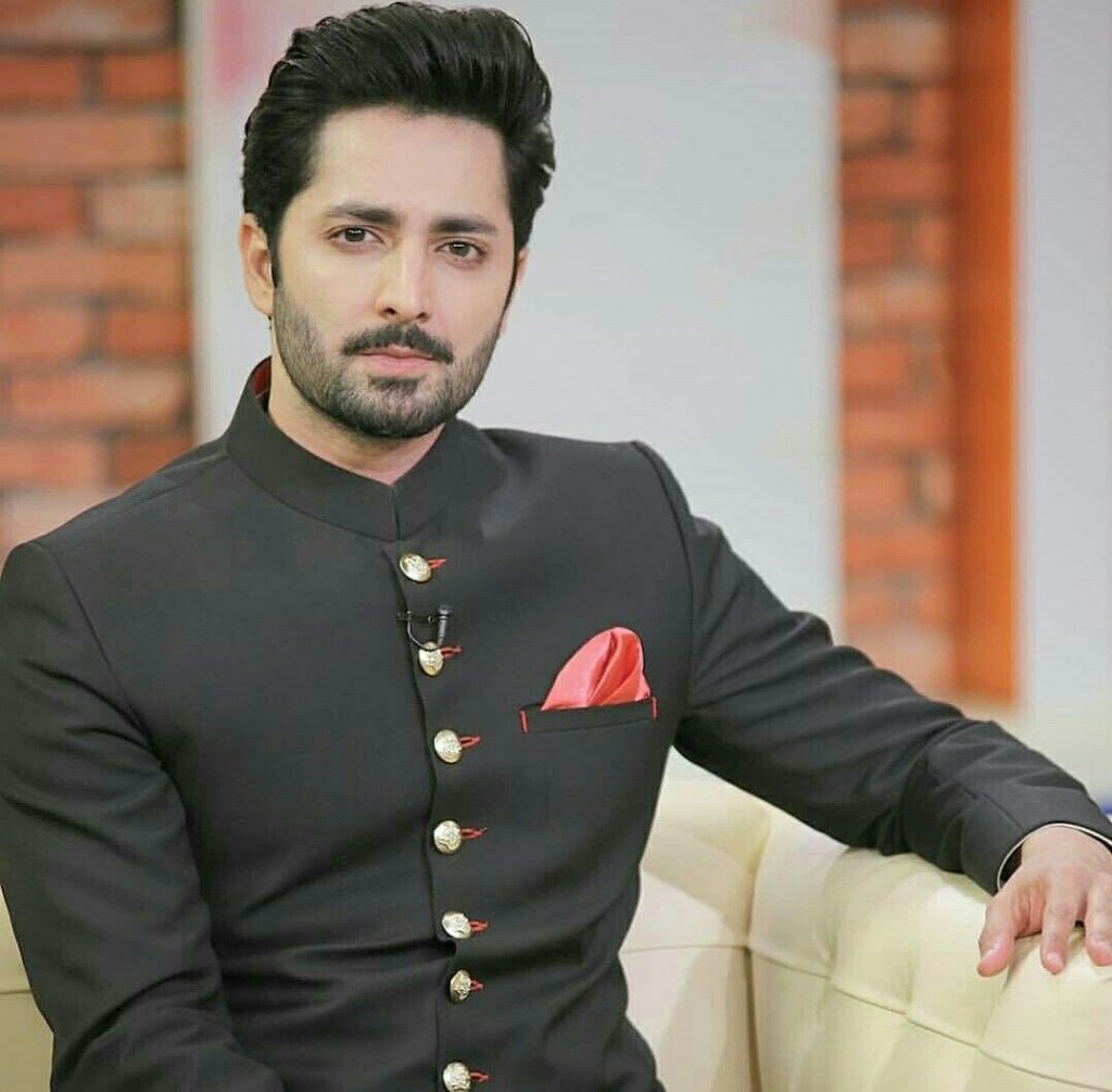 danish taimoor wearing black
