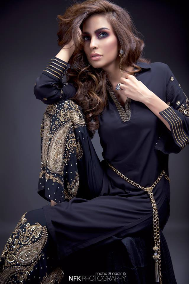 pakistani black model dresses