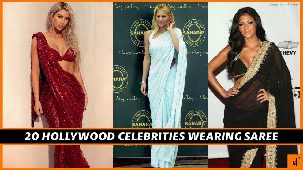 20 Hollywood Actresses in Saree 2021 1 HOLLYWOOD CELEBRITIES WEARING SAREE