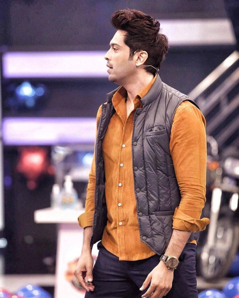 Winter outfits Pakistani Celebrities Fahad Mustafa