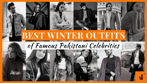 Winter outfits Pakistani Celebrities