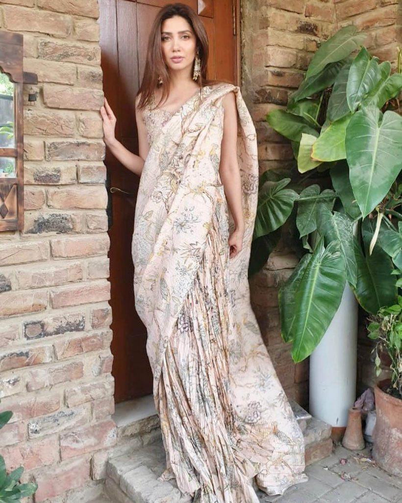 Mahira Khan Casual Saree