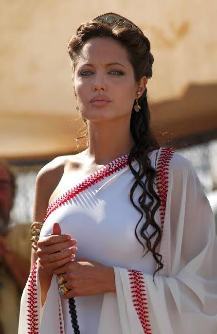 Angelina Jolie White Saree