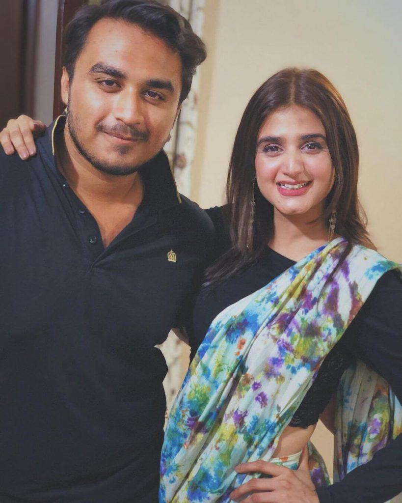 Hira Mani in Saree