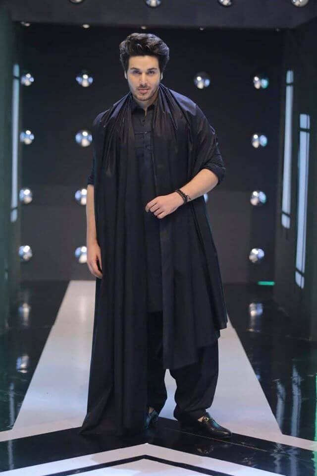 Winter outfits Pakistani Celebrities Ahsan Khan