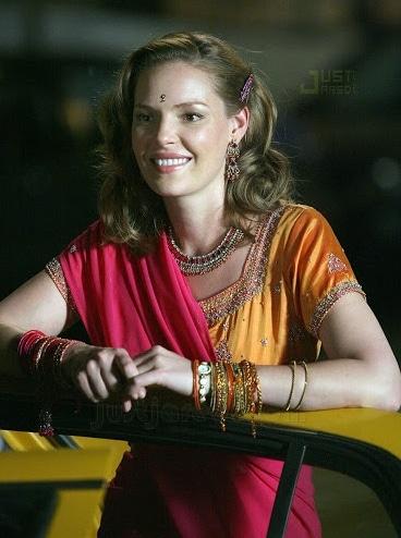 Katherine Heigl Saree Style