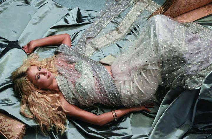 Paris Hilton Gray Saree