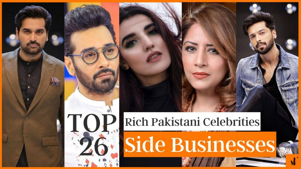 Rich Pakistani celebrities side businesses