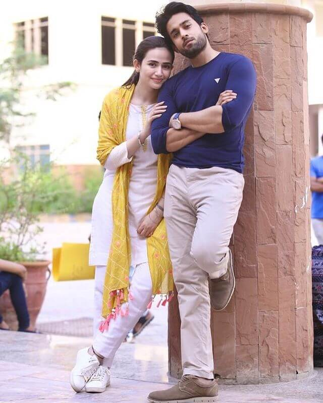 Sana Javed and Bilal Abbas Dunk