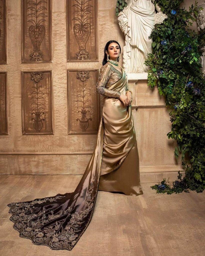 Sarah Khan in Saree