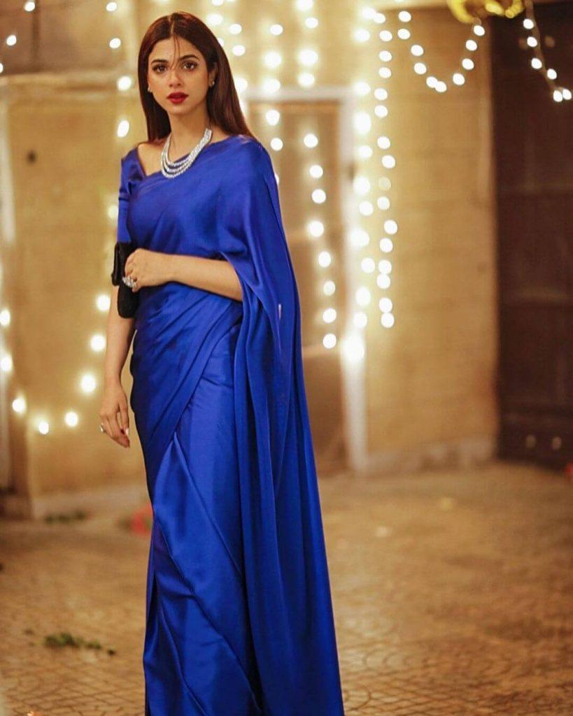Sonya Hussain in Saree pics