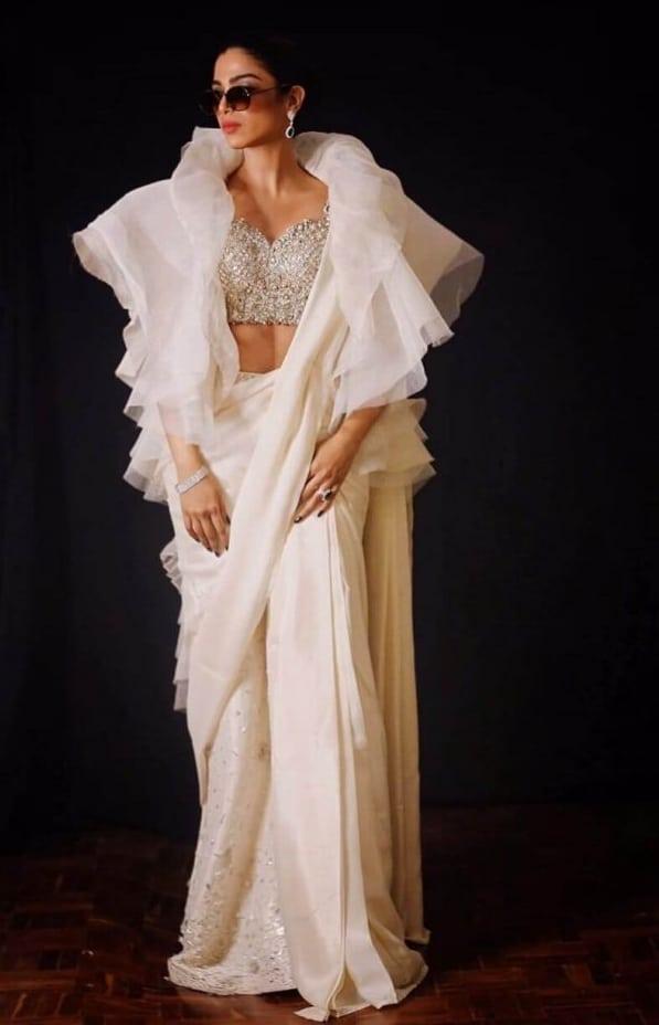 2021 Celebrities in Saree Look Classy 4 Sonya Hussain in Saree pics7 819x1024 1