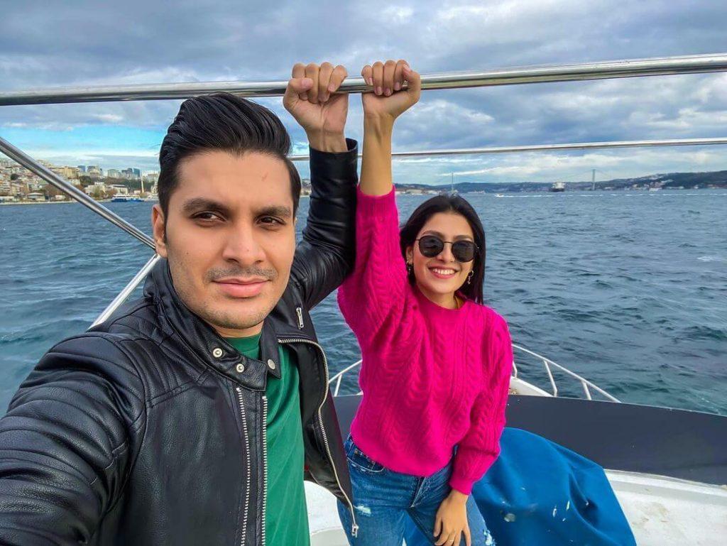 Ayeza khan latest vocation with family