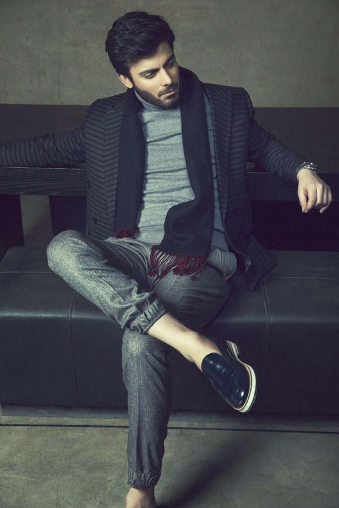 winter outfits Pakistani Celebrities Fawad Khan