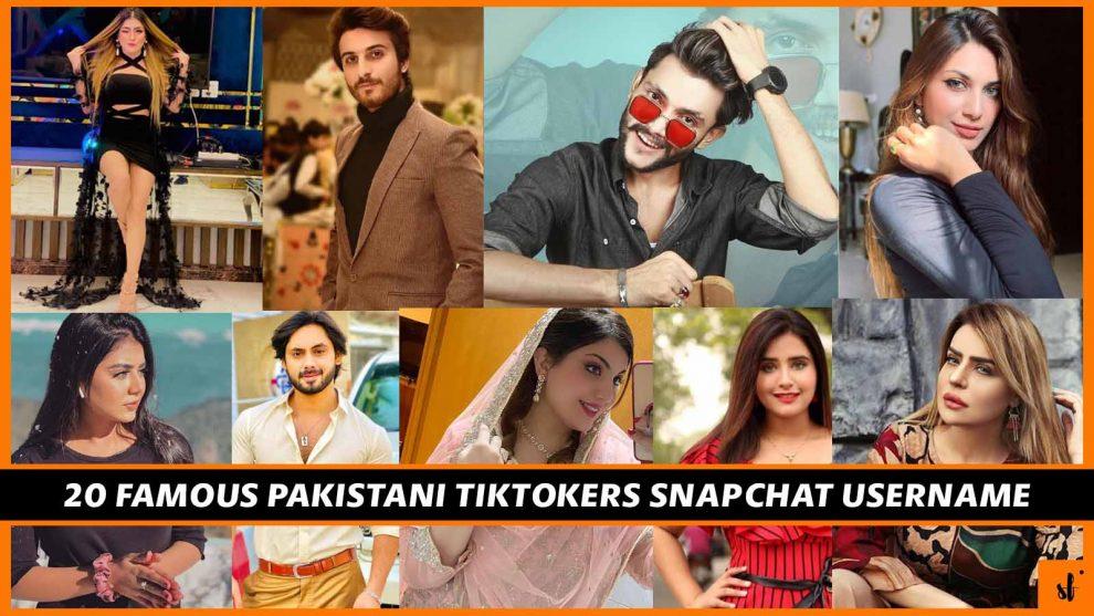 Pakistani tiktokers Snapchat username