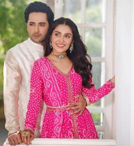 Danish Taimoor and Ayeza Khan Eid Dress Pink