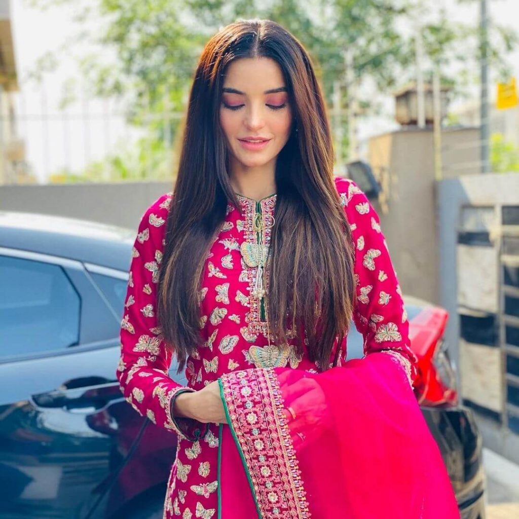 Halima Sadia Khan pictures in Eid outfit