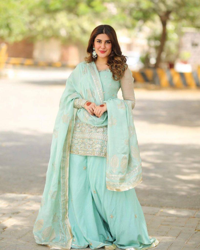 Kubra Khan wearing Eid Gharar dress